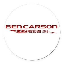 Ben Carson for President Sport Logo Round Car Magn