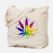 Rainbow Marijuana Scorpio Tote Bag