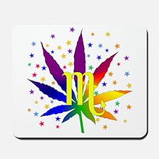 Rainbow Marijuana Scorpio Mousepad
