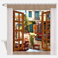 Unique Window view Shower Curtain