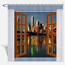 Cute Window view Shower Curtain