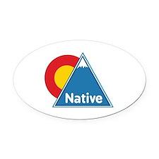 Colorado Native Oval Car Magnet