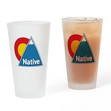 Colorado Native Drinking Glass