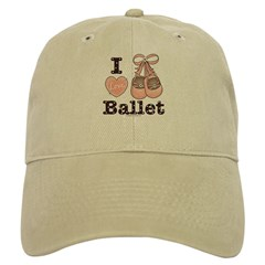 I Love Ballet Pink Brown Cap