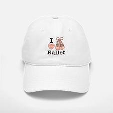 I Love Ballet Slippers Pink Brown Baseball Baseball Cap