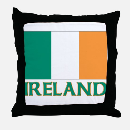 Irish flag Throw Pillow