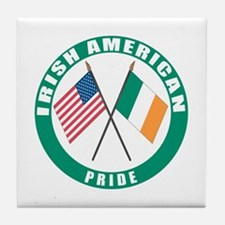 Irish American pride Tile Coaster