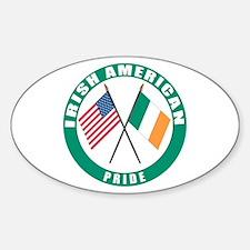 Irish American pride Oval Decal