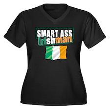 Smartass Irishman Women's Plus Size V-Neck Dark T-