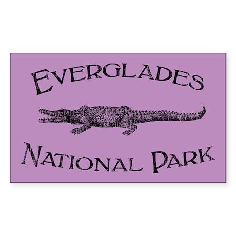 Everglades National Park (Crocodile) Sticker (Rect