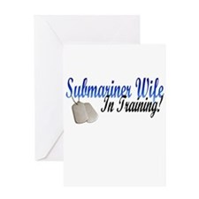 submariner wife in training Greeting Card