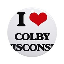 I love Colby Wisconsin Ornament (Round)