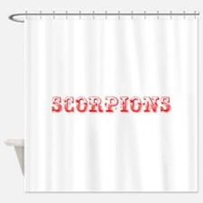 Scorpions-Max red 400 Shower Curtain