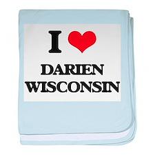 I love Darien Wisconsin baby blanket