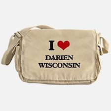 I love Darien Wisconsin Messenger Bag