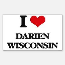 I love Darien Wisconsin Decal