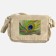 PAINTED PEACOCK FEATHER B2 Messenger Bag