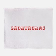 Shorthorns-Max red 400 Throw Blanket