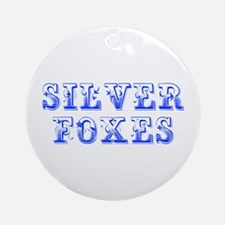Silver Foxes-Max blue 400 Ornament (Round)