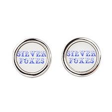 Silver Foxes-Max blue 400 Round Cufflinks