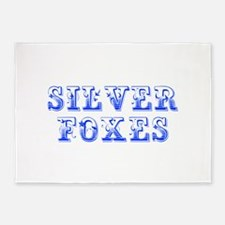 Silver Foxes-Max blue 400 5'x7'Area Rug