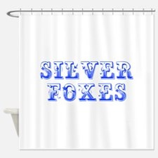 Silver Foxes-Max blue 400 Shower Curtain