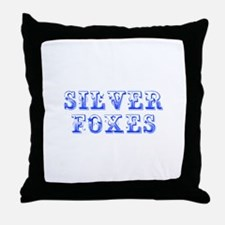 Silver Foxes-Max blue 400 Throw Pillow