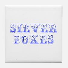 Silver Foxes-Max blue 400 Tile Coaster
