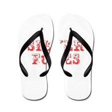 Silver Foxes-Max red 400 Flip Flops