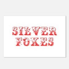 Silver Foxes-Max red 400 Postcards (Package of 8)