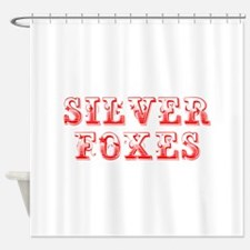 Silver Foxes-Max red 400 Shower Curtain