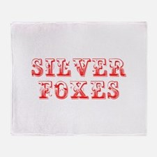 Silver Foxes-Max red 400 Throw Blanket