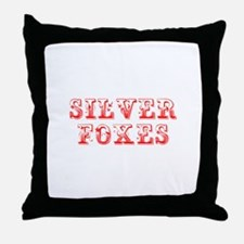 Silver Foxes-Max red 400 Throw Pillow