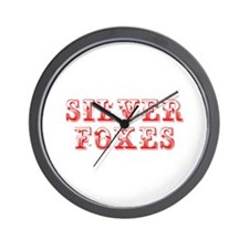 Silver Foxes-Max red 400 Wall Clock