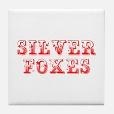 Silver Foxes-Max red 400 Tile Coaster
