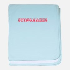 Stingarees-Max red 400 baby blanket
