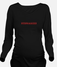 Stingarees-Max red 400 Long Sleeve Maternity T-Shi