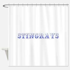 stingrays-Max blue 400 Shower Curtain