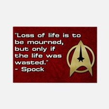 SPOCK LOSS OF LIFE Rectangle Magnet