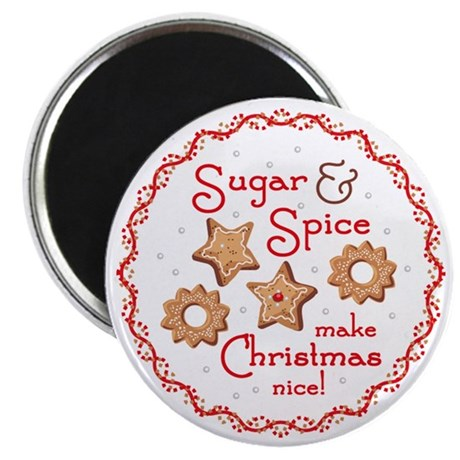 "Sugar & Spice Christmas 2.25"" Magnet (10 pack)"