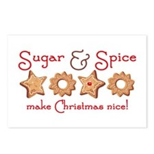 Sugar & Spice Christmas Postcards (Package of 8)
