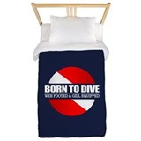Born to dive Duvet Covers