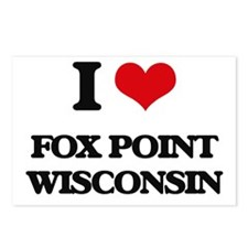 I love Fox Point Wisconsi Postcards (Package of 8)
