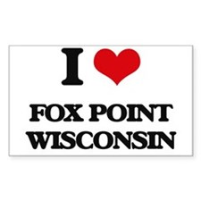 I love Fox Point Wisconsin Decal