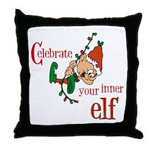 Inner Elf Throw Pillow
