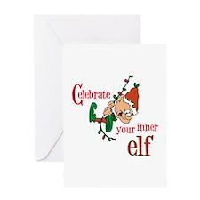 Inner Elf Greeting Card