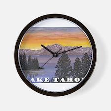 Mt. Tallac Lake Tahoe Wall Clock