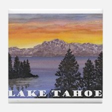 Mt. Tallac Lake Tahoe Tile Coaster