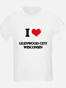 I love Glenwood City Wisconsin T-Shirt
