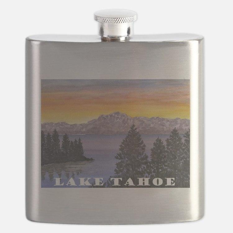 Mt. Tallac Lake Tahoe Flask